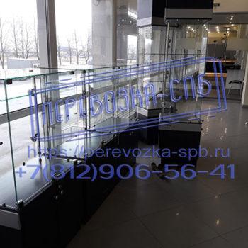 Перевозка спб стеклянных ветрин для магазина