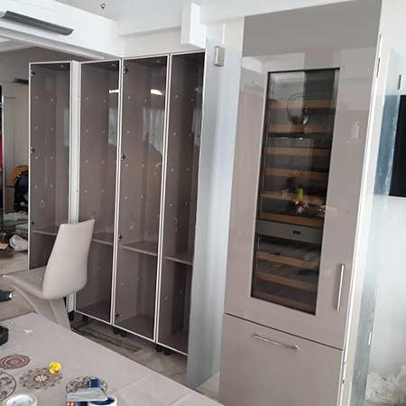 Перевозка вииного холодильника шкафа