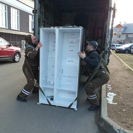 Перевозка холодильника сайд бай сайд с разборкой