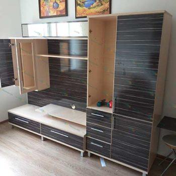 разборка и сборка мебельной стенки