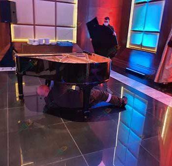 Перевозка рояля в гостинице Коринтия